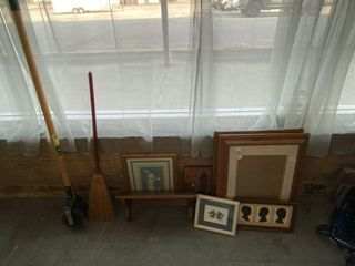 Wall Shelf, Picture Frames & Tools