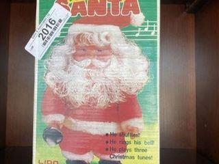 Vintage Musical Dancing Santa in Box