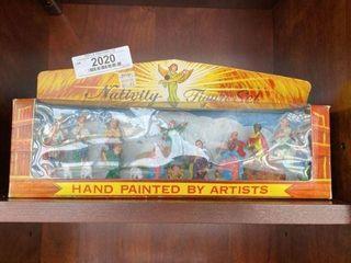 Vintage Hand Painted Nativity Set