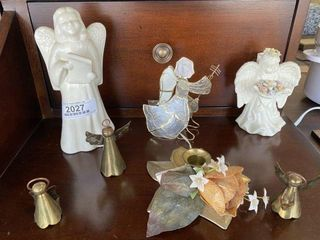 Angle Brass Bell Figurines
