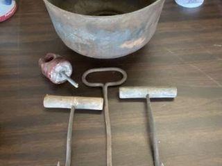 Old Hay Hooks & Strainer