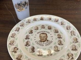 1911 Buick Glass & Presidents of the U.S. Plate