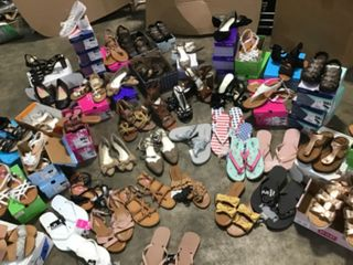 MIX ASSORTED PALLET WITH JCP SHOES & SANDALS! NOT USED! SEE PICS!