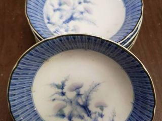 lot of 5 Small Japanese Thistle Bowls   5 5  x 1 5  T