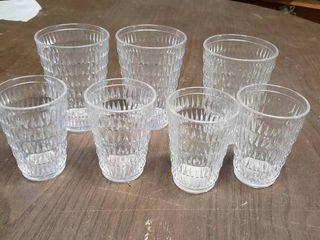 lot of 7 Plastic Glasses