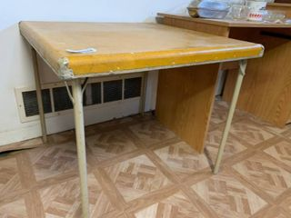 Vintage Brownish Yellow Table   26  T x 29 5  W