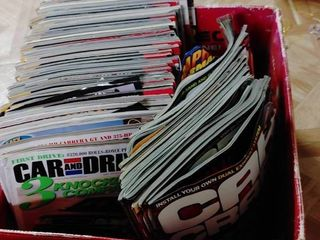 large lot of Magazines   45 Hot Rod  16 Car Craft  4 Street Rod  and 2 Car   Driver   In Good to Poor Condition
