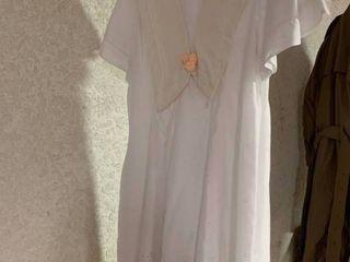 White First Communion Dress   Size Unknown
