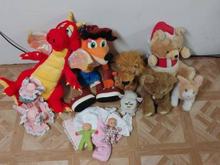 large lot of Various Stuffed Animals