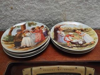 lot of 7 Knowles Collector Plates    s 3687A  3672C  3168B  2389D  l13436  18846B  2214D   8 5  Diameter