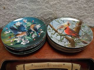lot of 12 Knowles Animal Collector Plates    s 4404G  147938  7503A  3798D  6472E  2663A  16191B  17834F  3735F  5636K  16649C 12361D   8 5  Diameter