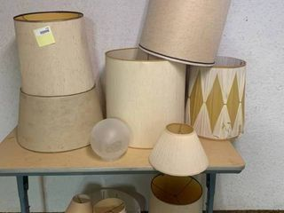 lot of 10 Various lamp Shades   Some Show Wear