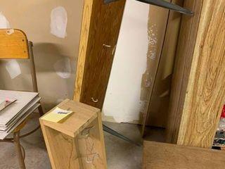 lot of 2 Wooden Shelves   26  W   50  W