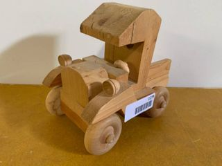 Wooden Carved Toy Truck