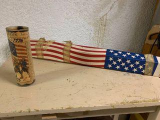 American Flag   Glass American Candle
