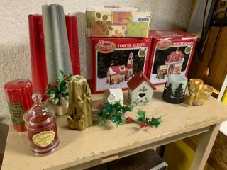 large lot of Holiday Candles