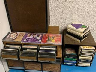 8 Track Tape Case  CD Case    A Cassette Tape Case With 22 Tapes   CD s