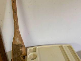 Wooden Boat Oar   A TV Tray