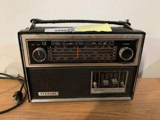 Vintage Stewart Portable Radio   Works