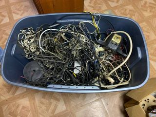 large Tub Full of Assorted Wires
