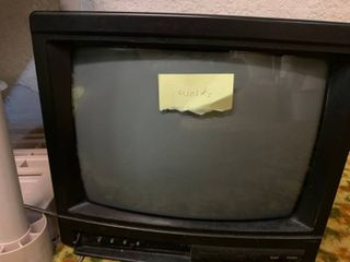 Vintage Black Television   Turns On