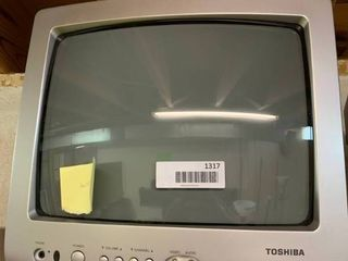 Small Toshiba Television   Turns On