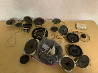 large lot of Stereo Speakers   Untested