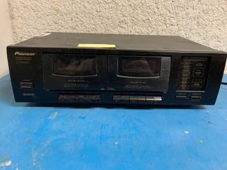 Vintage Pioneer Stereo Double Cassette Deck   Mo  CT W103   Does Not Work