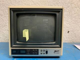 Vintage Zenith Space Command Television   Turns On