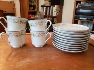 Lot of 4 Coffee Cups and 10 Saucers