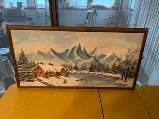 Winter Scene Painting | 31.5