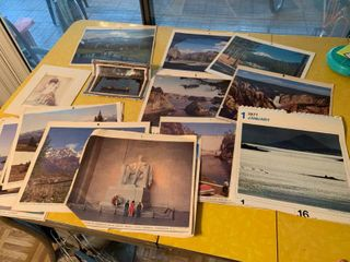 Large Lot of Various Scenic Calendar Pictures | Some Fading in Color