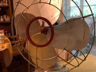 Vintage Red Westinghouse Fan   18  x 23  T   Missing Power Cord