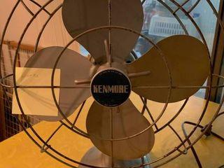 Vintage Metal Kenmore Fan   14  x 17  T   Works