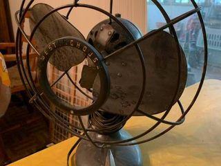 Vintage Black Westinghouse Fan   12  x 14  T   Does Not Work