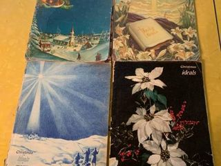 lot of 4 Ideals Magazines   Easter 1954   Christmas 1954  1956  1958   In Poor Condition