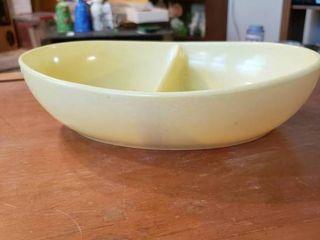 Melmac Yellow Divided Dish   10  long