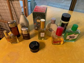 lot of Various Avon Used lotions   Cologne Samples   Hal Karate  Old Spice  Coleman Wild Country  loverboy    More