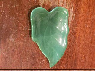 Dark Green leaf Dish   3  long