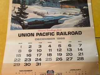 Vintage Union Pacific Pen And Calendar Pages   Pen Does Not Work