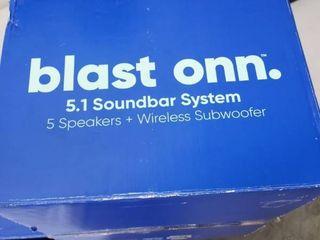 Onn  100008866 36  5 1 Sounbar With Wireless Subwoofer