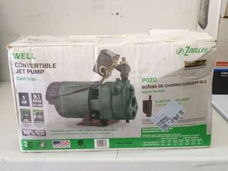 Zoeller 1463 0006   Well Convertible Cast Iron Jet Pump 1hp  9 1gpm See Box