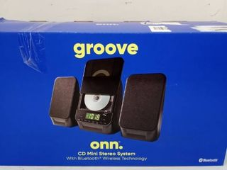 onn groove cd mini stereo with Bluetooth