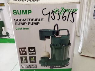 Zoeller 1073 0001 1 3hp Cast Iron Submersible 42gpm Sump Pump W  9  Cord