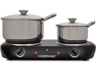 Farberware Royalty 1800 W Double Burner Black Electric Cooktop  1 Each