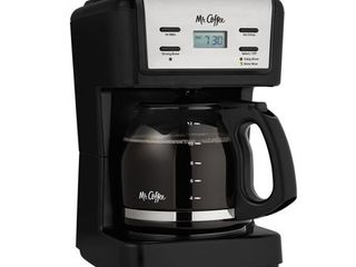 Mr  Coffee 12 Cup Programmable Coffee Maker  Black