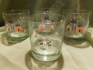 Glass Tumblers  4 ea