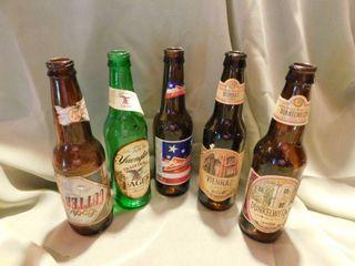 Interesting Beer Bottles  5 ea