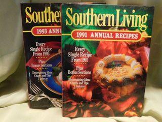 Two Southern living Hardback Recipe Books