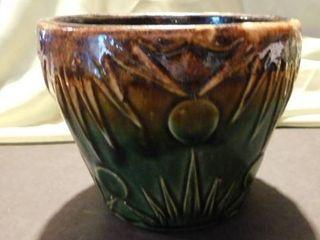 Brown   Green Ceramic Pot